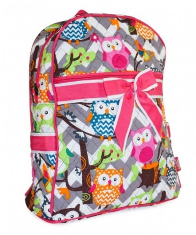 GIL Chevron Owl Quilted Backpack