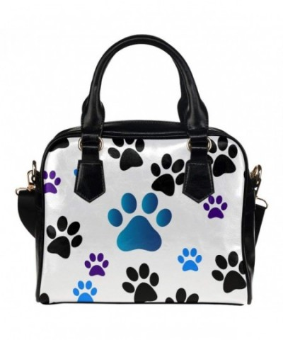 InterestPrint Womens Leather Aslant Handbag