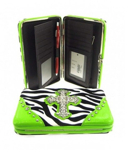 Gorgeous Zebra Rhinestone Wallet Clutch