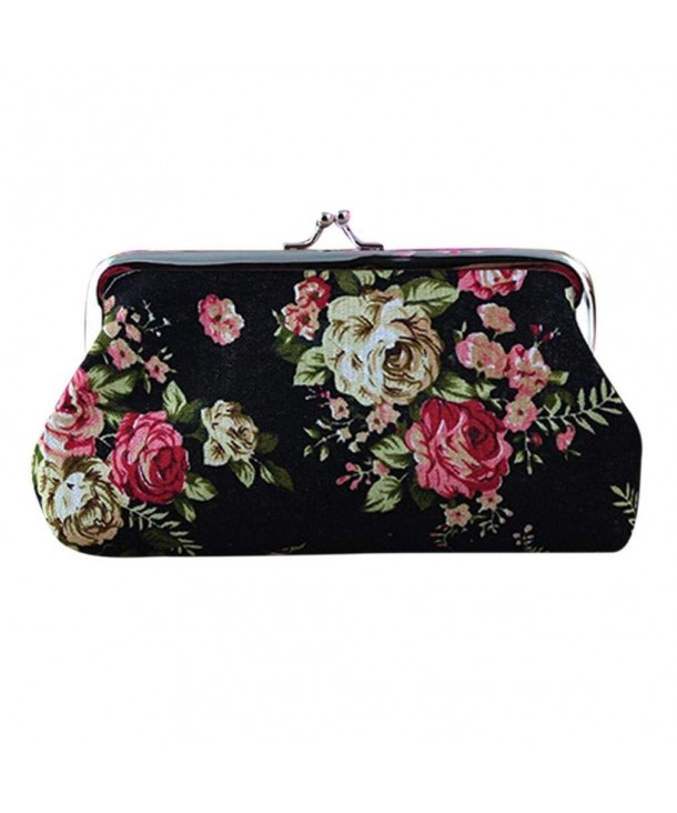 Sannysis Women Vintage Flower Clutch