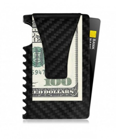 RFID Minimalist Wallet Men Carbon