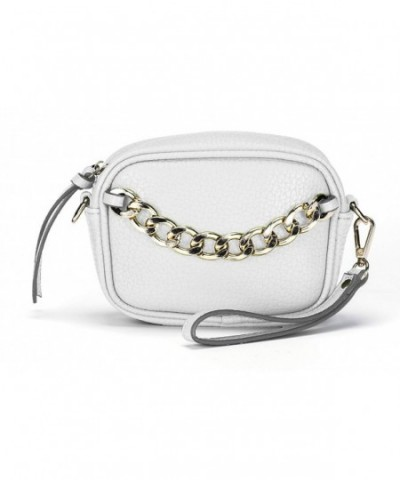 Womens Leather Chain Handbag Wristlet