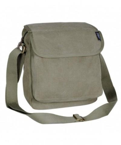 Everest Luggage Canvas Messenger Olive