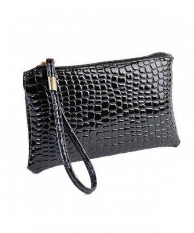 DETALLAN Fashion Crocodile Leather Minimalist