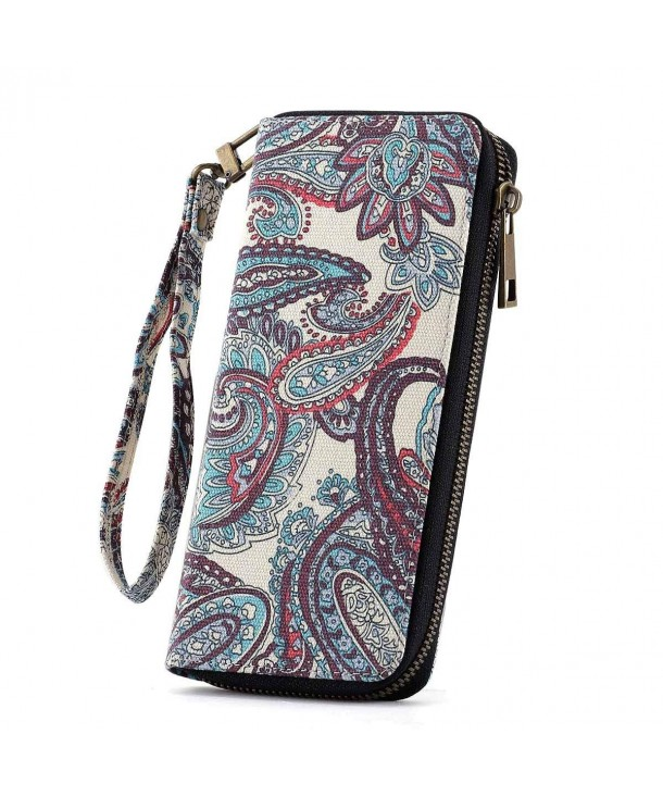 Womens Canvas Around Wallet Pattern