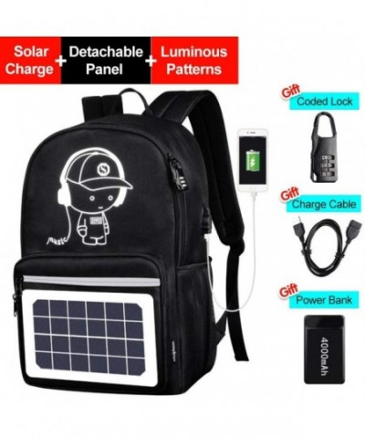 Luminous Backpack Detachable Anti Theft Waterproof