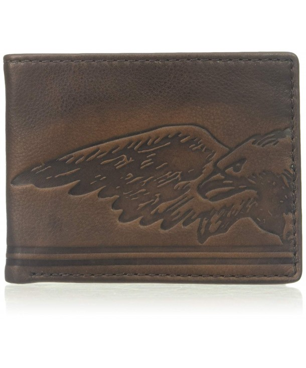 Relic Embossed Traveler Leather Wallet