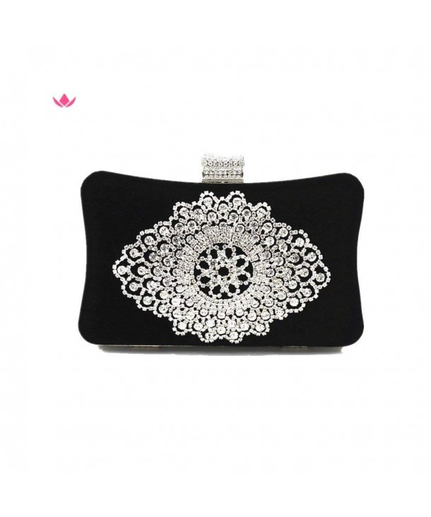 Shiratori Clutch Purses Rhinestone Crystal