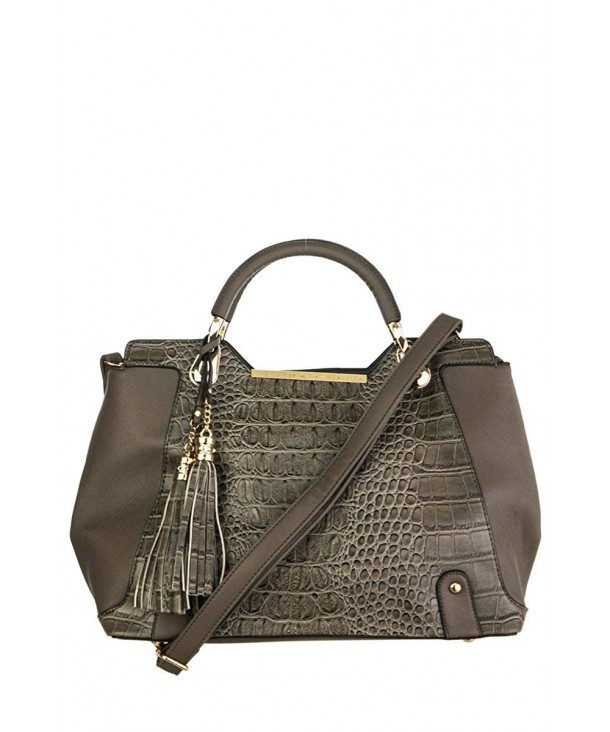 lcolette Crocodile Tassel Accented Handle
