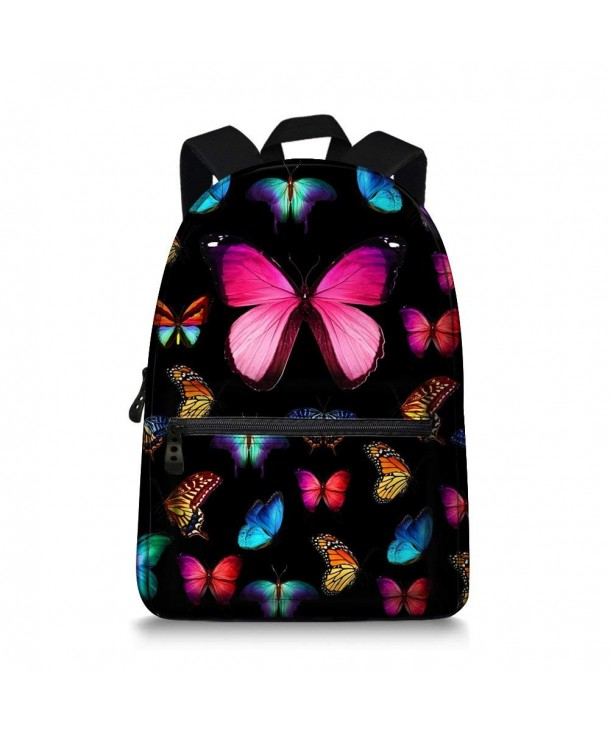 Butterfly Children School Backpack Printing