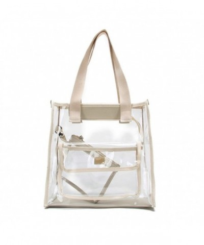 Clear Bag Tote Pouch Combo