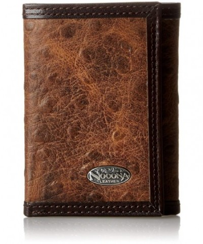 Nocona Mens Brown Ostrich Trifold