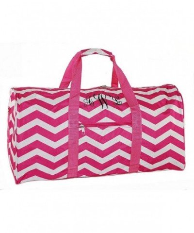 Personalized Womens Chevron Overnight Duffle