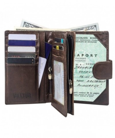 Passport Wallet Men Blocking Vintage