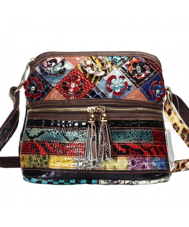 MCCKLE Leather Multicolor Crossbody Shoulder
