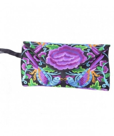 Clutch Embroidery Travel Canvas Wallet