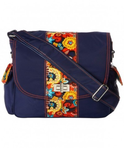 Hadaki Trend Messenger Navy Arabesque