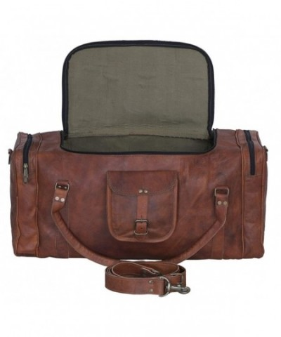 Leather duffelbag holdall Travel Weekend