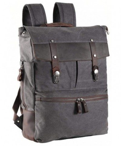ZEKAR Leather Backpack Vintage Rucksack