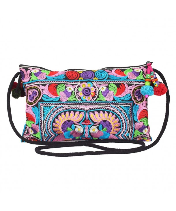 Changnoi Colorful Embroidered Crossbody Handmade