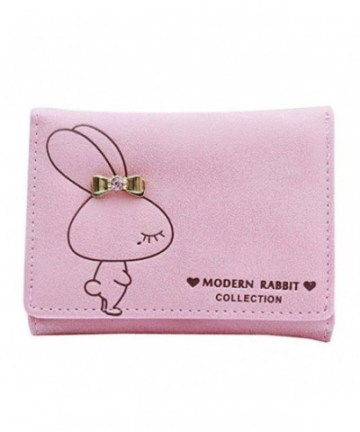 Donalworld Womens Leather Rabbit Wallets