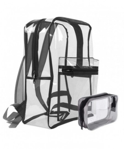 Transparent Backpack Multi Pockets Through Knapsack