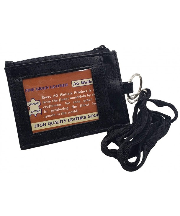 Wallets Leather String Holder Zippered