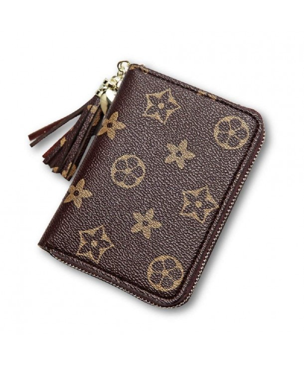 Persie Compact Zipper Leather Pocket