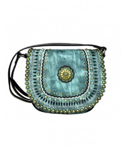 Montana West Hipster Messenger Turquoise