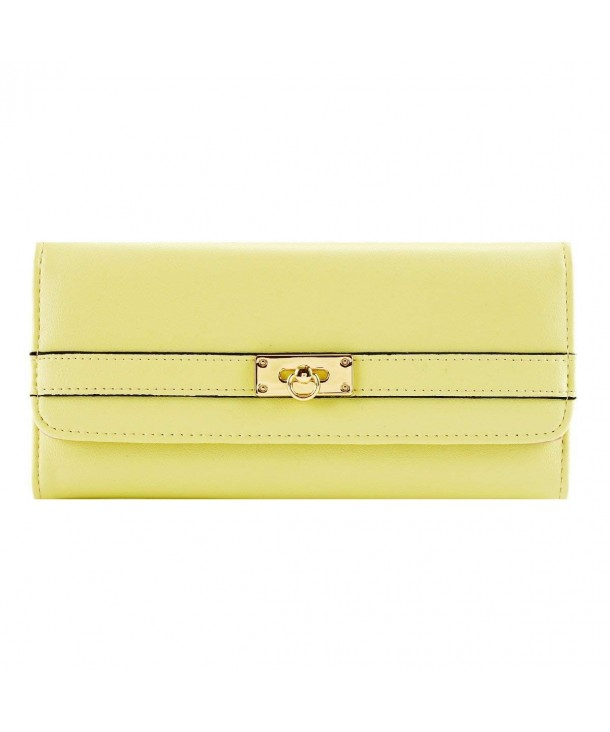 Damara Leather Trifold Holder Yellow