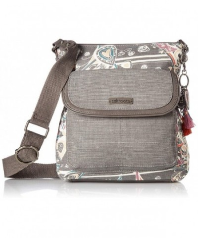 Sakroots Flap Crossbody Shadow Songbird