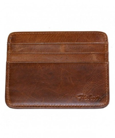 Hibate Leather Credit Holder Wallet