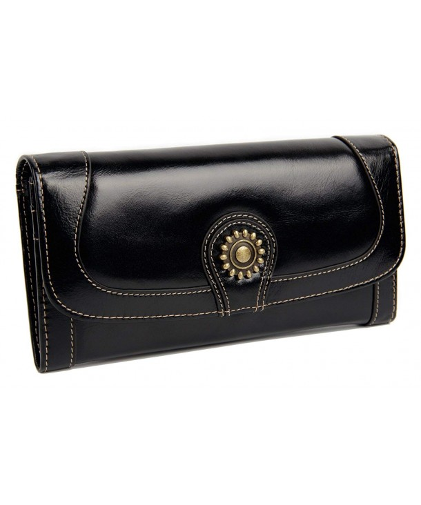 Luxury Leather Wallet Ladies Vintage