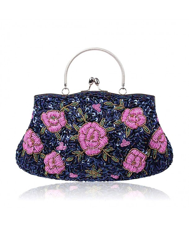 Flower Clutches Evening Handbags Wedding