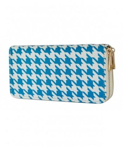 Houndstooth Double Wallet Clutch Handbag