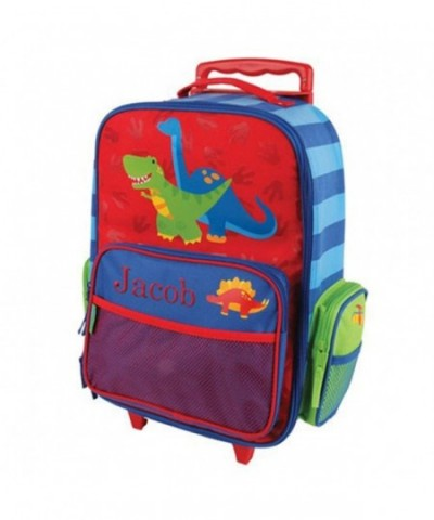 Embroidered Dinosaur Rolling Luggage Multiple