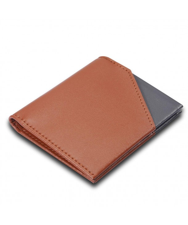 Bifold Wallets Minimalist Leather Blocking