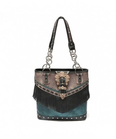 Western Handbag Accented Two Toned Concealed