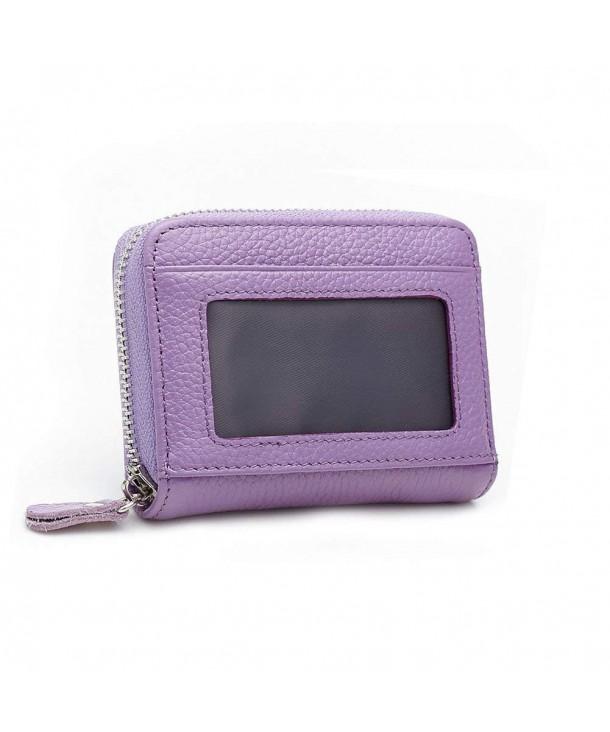 Anshili Unisex Zipper Leather Wallet