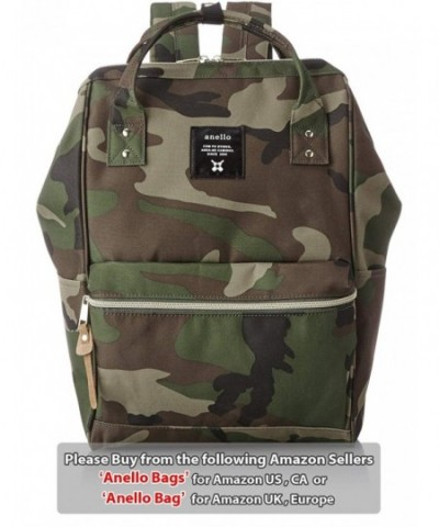AUTHENTIC POLYESTER BACKPACK LARGE CAMOUFLAGE