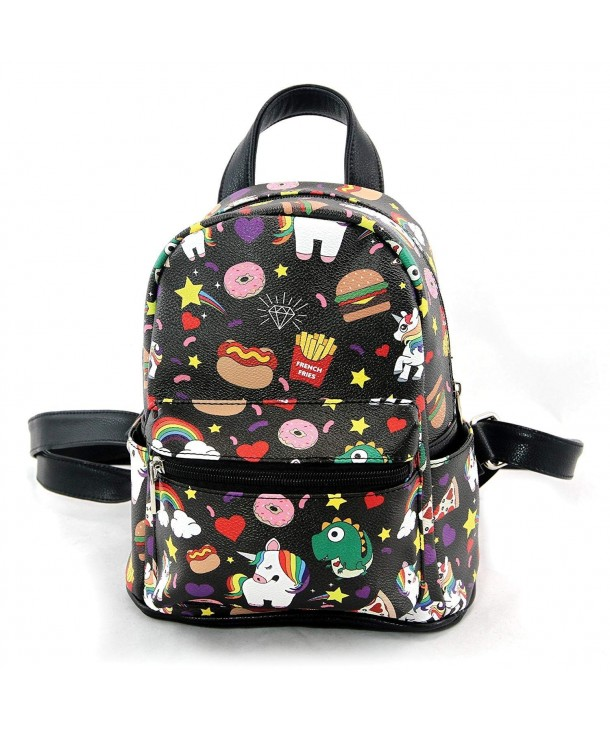Comeco Unicorns Junkfood Leatherette Backpack