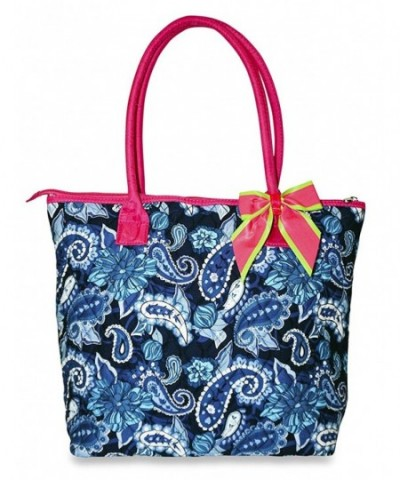 Rosenblue Flora Quilted Tote Pink