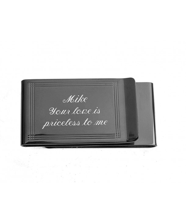 Personalized Double Sided Gunmetal Engraved