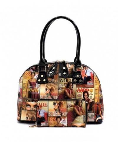 Magazine Collage Satchel Michelle Handbag