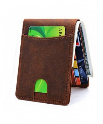 Pocket Wallets Bifold Genuine Leather